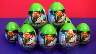 Phineas and Ferb Surprise Eggs Disney Channel Easter Eggs Holiday Edition by Disneycollector