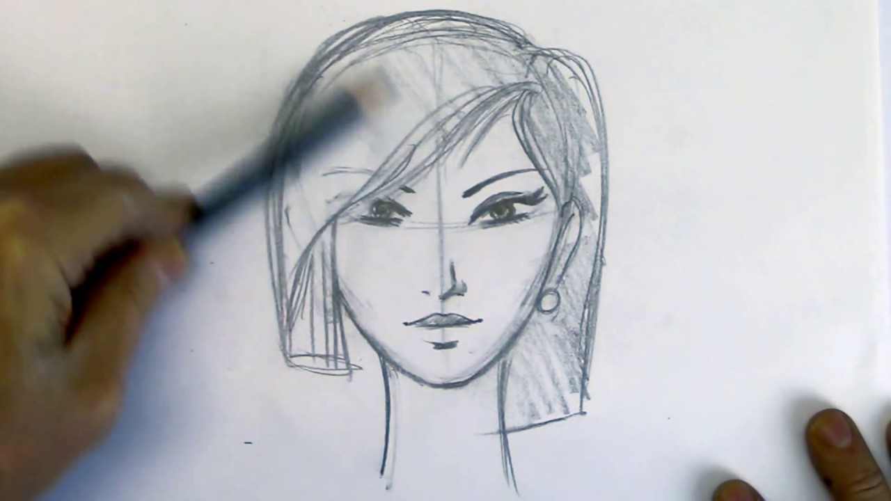 How To Draw And Sketch People Draw Faces The Easy Way Youtube