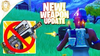 Fortnite | NEW Update Hotfix Out NOW! PLAYGROUND Mode V2! Nerfed SMG'S! NEW Challenges + Skins!