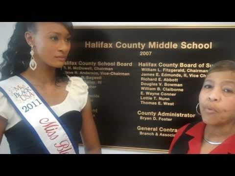Speaking About Education in South Boston and Halifax County- Miss Black Va