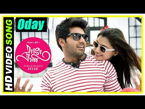 Raja Rani Tamil Movie Songs | Oday Oday Song | Nazriya proposes to Arya | Santhanam