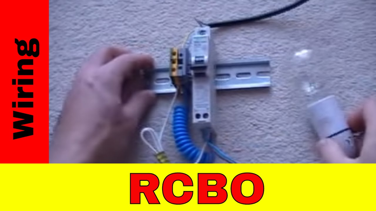 How to wire RCBO  YouTube