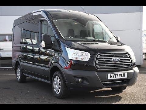 Used Ford Transit 2.0 TDCi 130ps 290 L2 H2 Van Black 2017 - YouTube