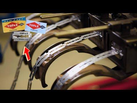 देखिये Factory मे कैसे बनता है Razor blade   Razor blades manufacturing process on factory in hindi.