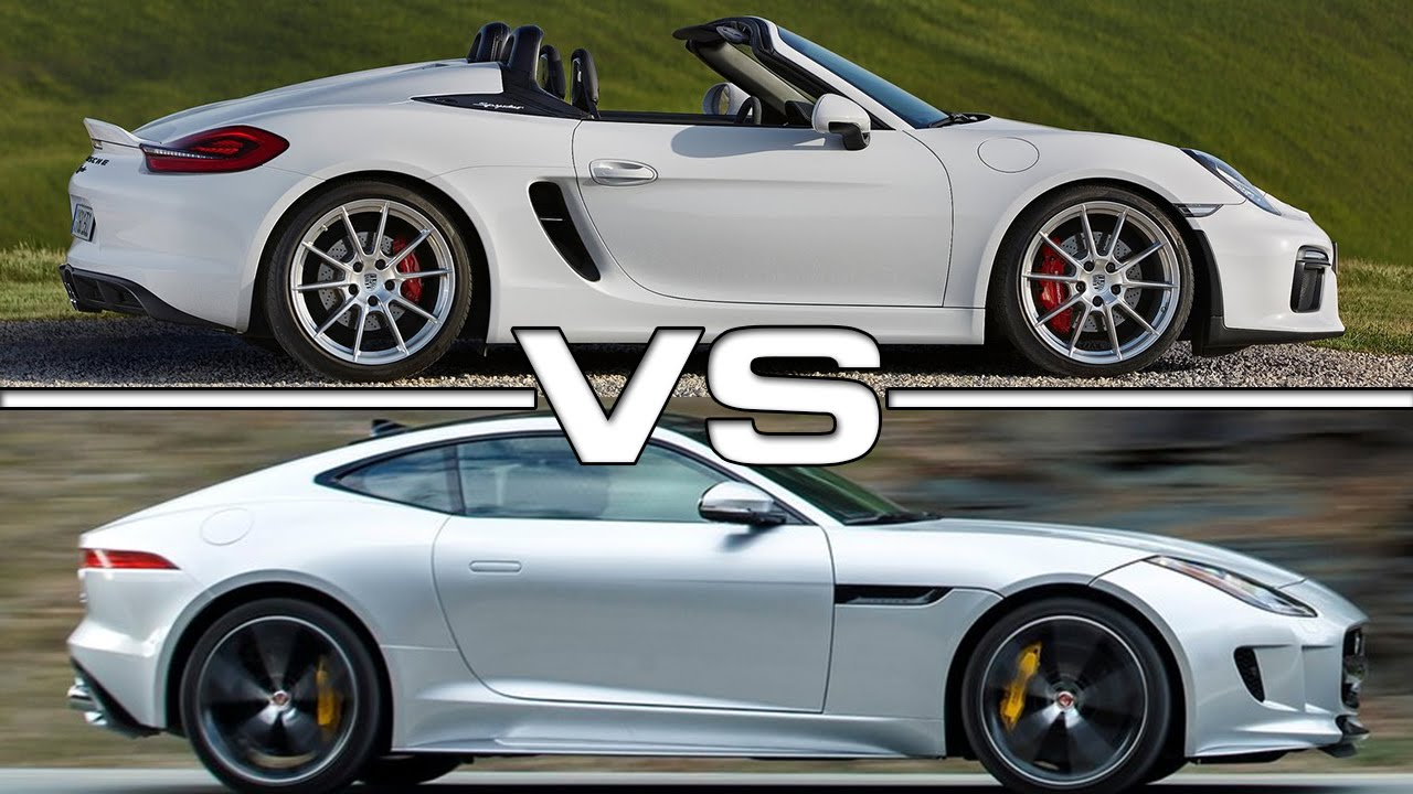 2016 Porsche Boxster Spyder Vs 2016 Jaguar F Type Youtube