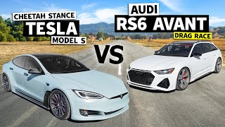 homepage tile video photo for 700hp Audi RS6 Avant vs. Tesla Model S Apex: Ultimate Daily Driver Showdown // This vs. That