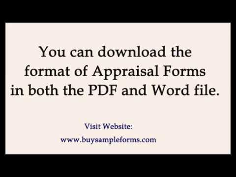 Sample Appraisal Form Templates Word Employees Performance