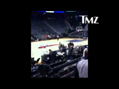 Caught on Tape ~ Dominique Wilkins vs. Rashan Michel (Fight at Hawks Game)