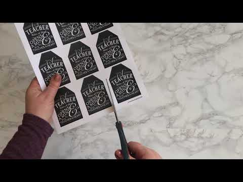 Teacher Gift Tag Printable Video