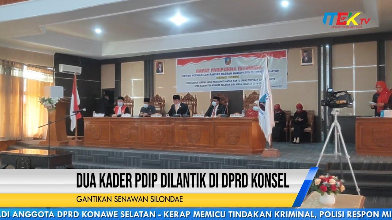 Dua Kader PDIP Dilantik di DPRD Konsel Gantikan Senawan Silondae