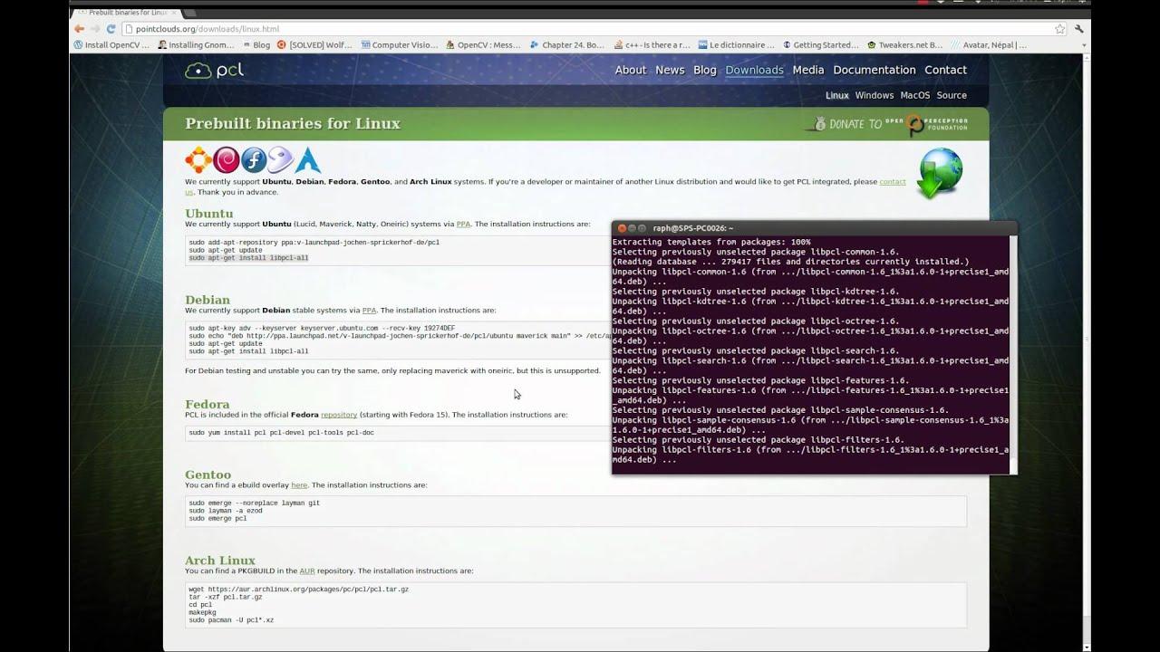 Install PCL from Binaries on Ubuntu