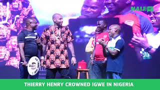 THIERRY HENRY crowned  Igwe in Nigeria