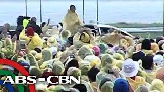 Pope Francis mainit na sinalubong sa Tacloban