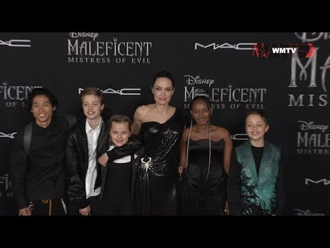 Angelina Jolie And Her Kids Arrive At Maleficent Mistress Of Evil Film Premiere