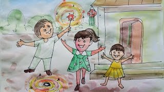 Happy Diwali Speacial - Drawing For Kids 2015