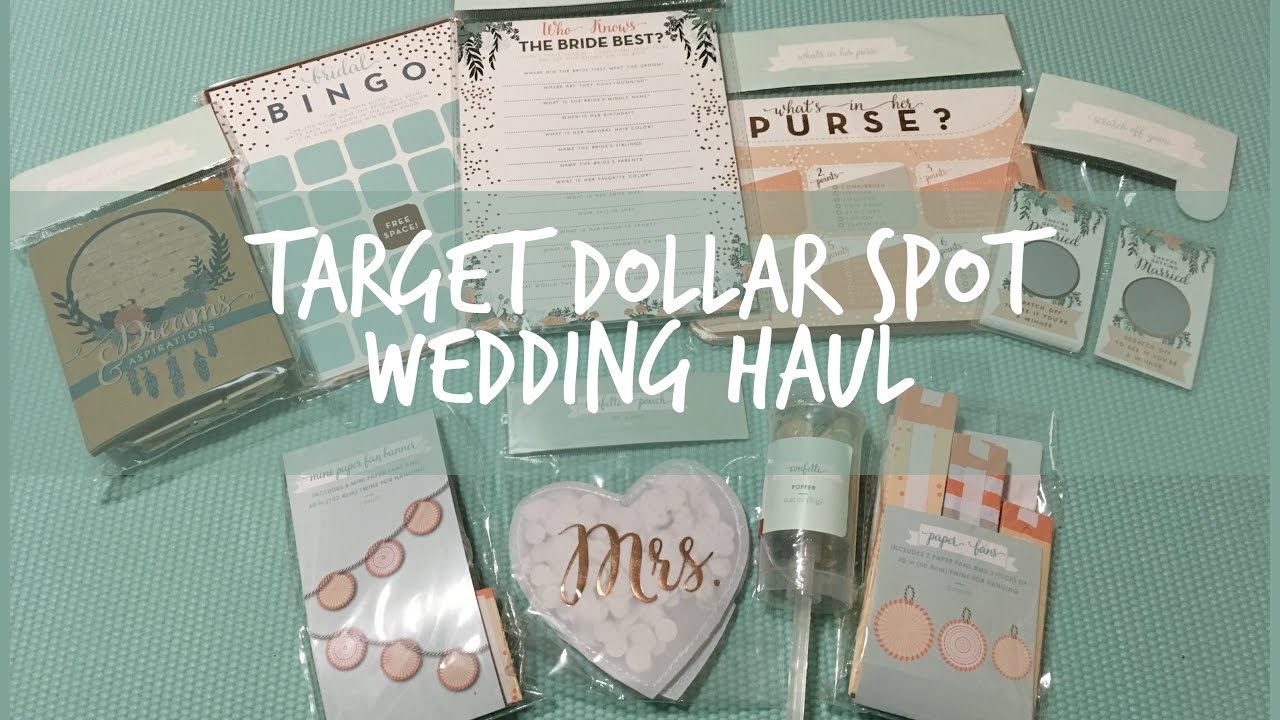wedding bridal shower decor target dollar spot haul summer 2017
