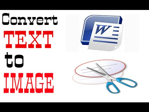 How to convert text to image easily