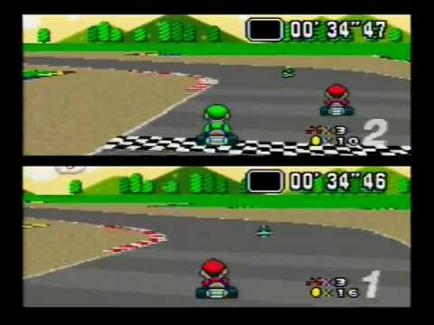 super mario kart 2 player