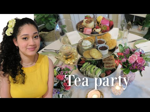 hosting-a-tea-party-at-home-!-american-teenagers-reaction-#diy-#tablesetting-#howto