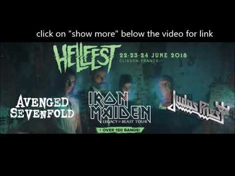 Hellfest Open Air festival full lineup unveiled - Maiden/Preist/A7x/Megadeth and more..!