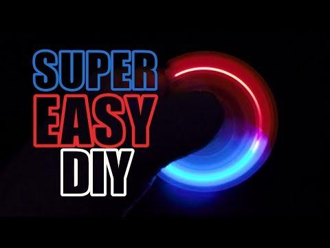 DIY LED Fidget Spinner - Super Easy Method