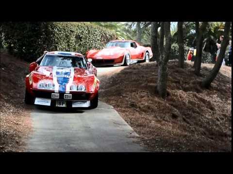 Corvette Race Cars enter the Amelia Island Concours