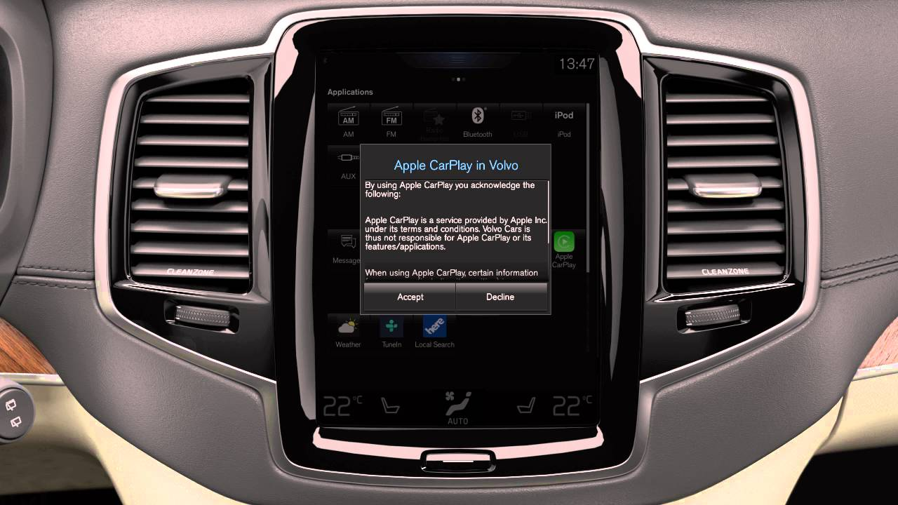 See how to set up Apple CarPlay in your all new Volvo XC90 - YouTube