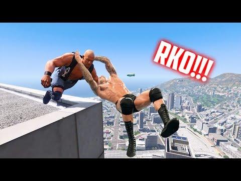 GTA 5 WRESTLING LIKE IN WWE #16 (RKO, Suplex, Spear, and more!)