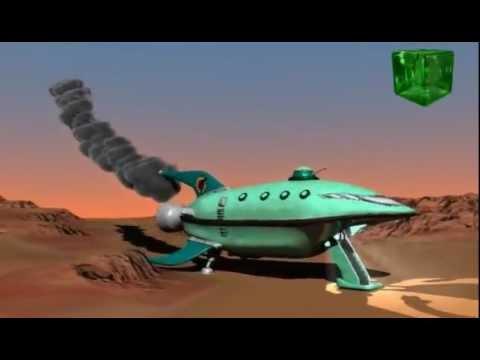 Futurama´s Planet Express Ship 3D Test