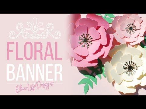 Making Handmade Banner with Paper Flowers - Nursery Custom Name Banner
