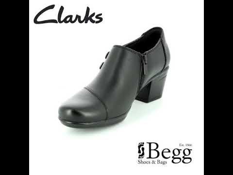 2c9bfafb25e Clarks Emslie Warren D Fit Black shoe-boots