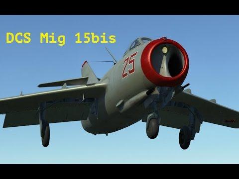 DCS Mig-15bis Запуск двигателя, руление, взлет и посадка. (60 FPS)