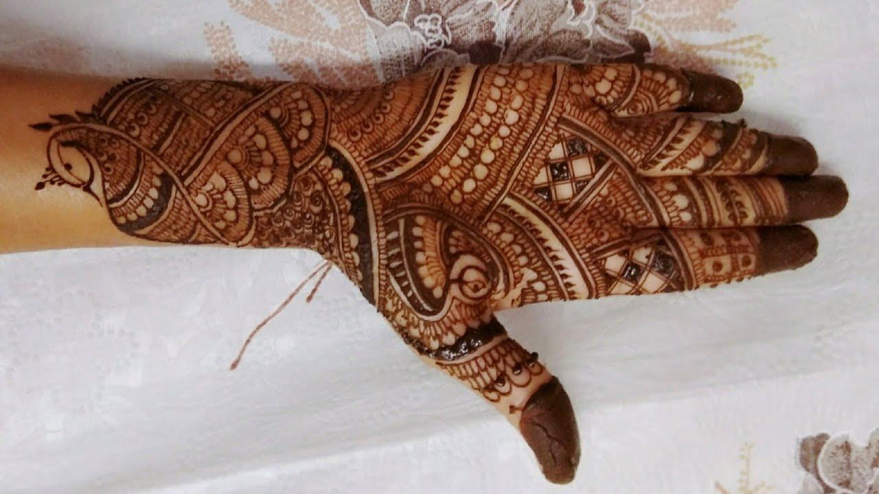 Simple Mehndi Design Bharwa Hath
