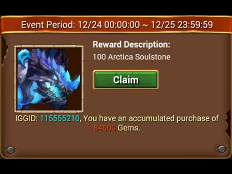 Buying Arctica Through Accumulation Soulstones + Events Castle Clash