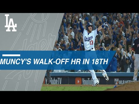Muncy delivers walk-off in 18th after foul in 15th