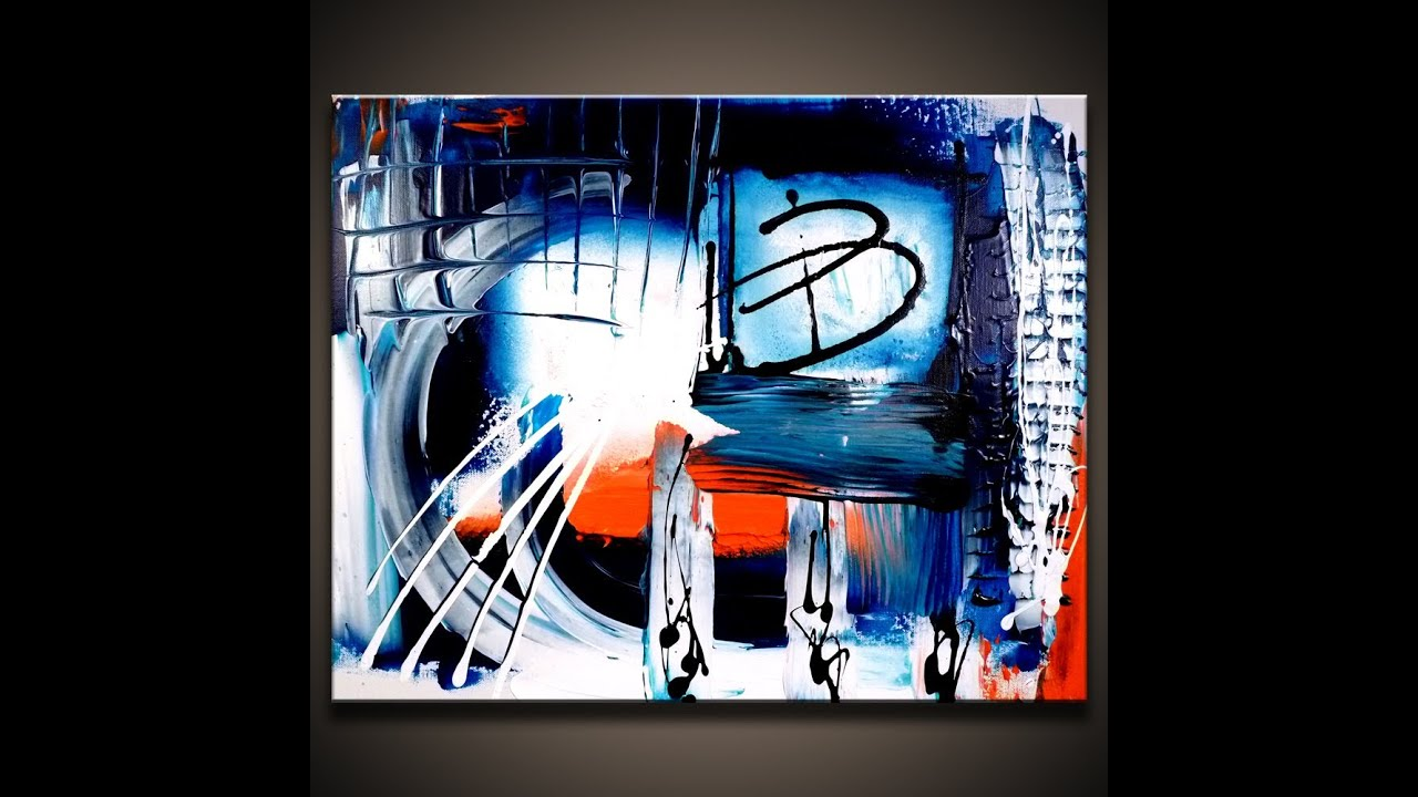Creative and simple abstract painting techniques youtube for Creative abstract painting