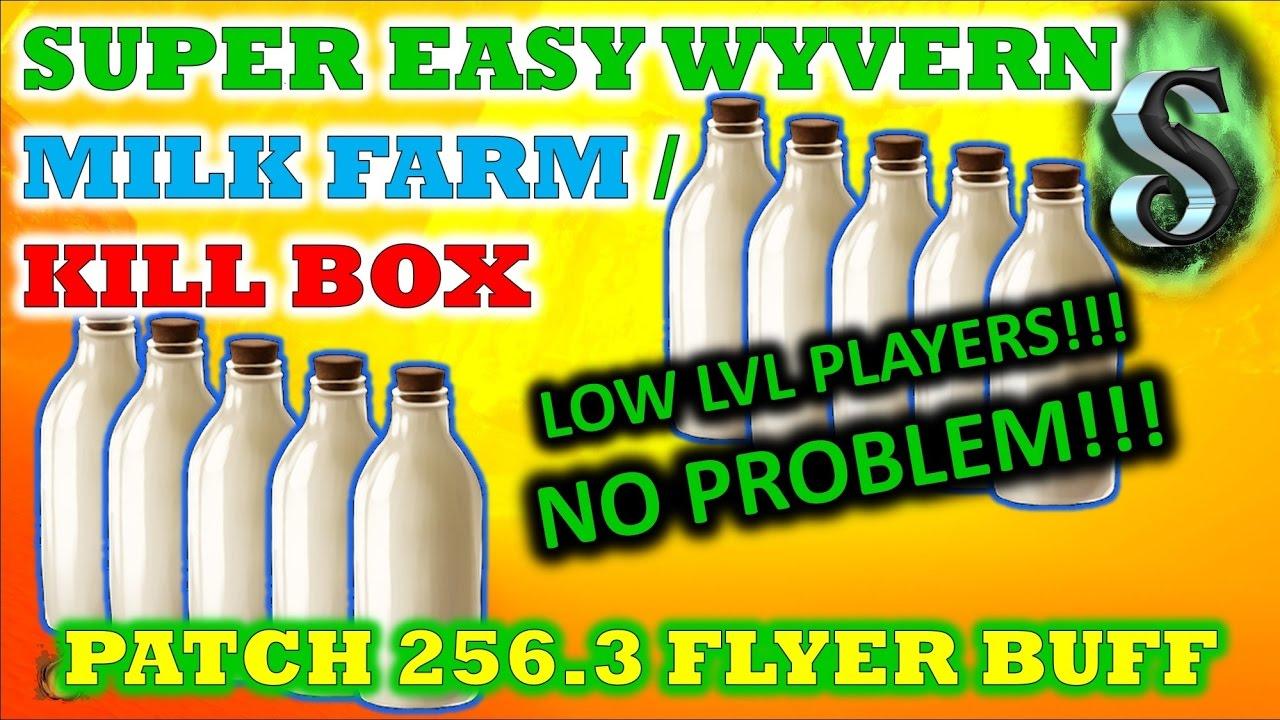 SUPER EASY WYVERN MILK FARM-KILL BOX - LOW TECH PLAYER LVL - Ark: Survival Evolve - YouTube