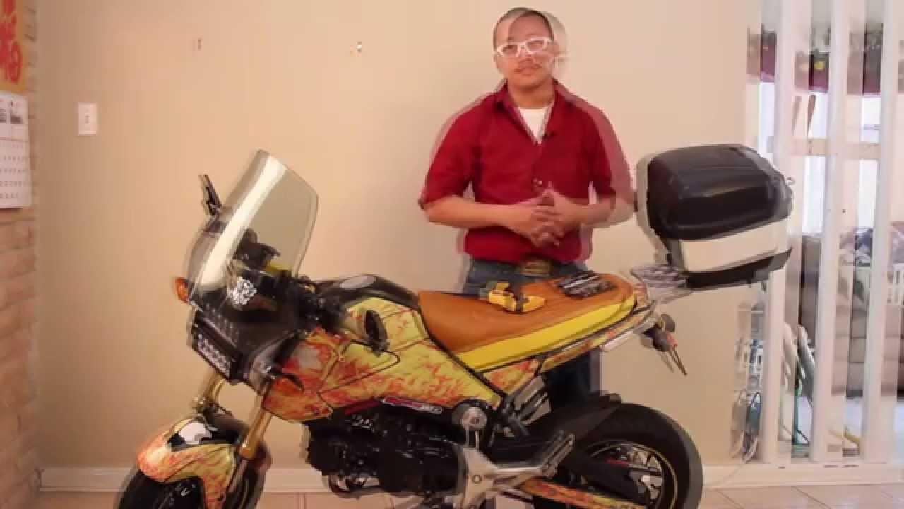 Honda Grom Pro Moto Billet Rack Installationreview Youtube