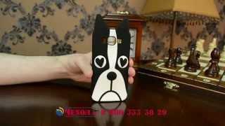 """задняя панель-чехол-накладка с  3D изображением для Samsung Galaxy E5 """"тематика черно-белая Собака"""""""
