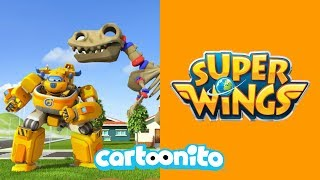 Super Wings | How To Build A T-Rex Skeleton | Cartoonito UK