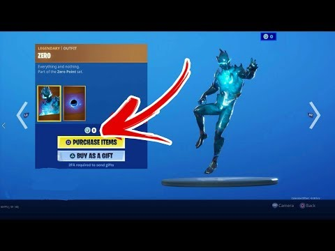 How To Get The ZERO Skin For FREE (Fortnite Chapter 2) Item Shop - Free Skins