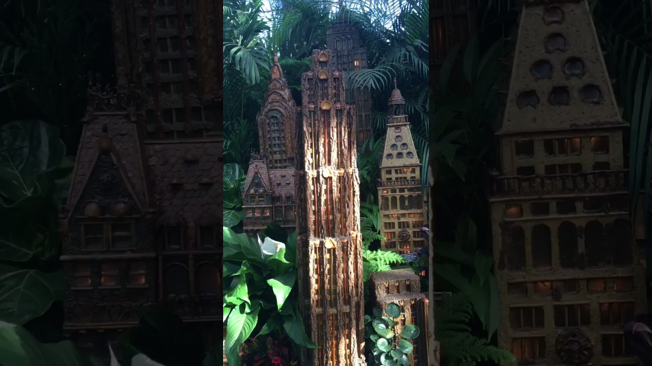 Ny Botanical Garden Annual Holiday Train Show Youtube