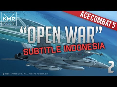 Ace Combat 5 Playthrough - Mission 2 Open War Subtitle Indonesia