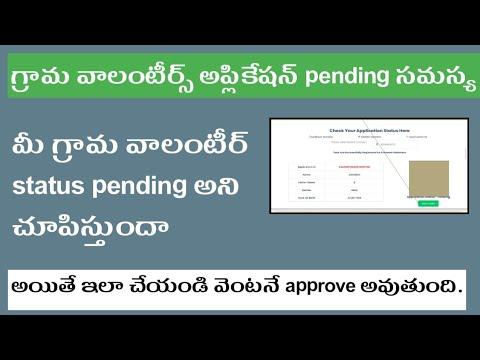 Ap Grama Volunteer Application Status Pending || Grama volunteer status ||  telugu star