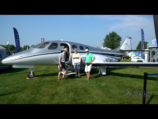 Airborne Oshkosh Day 1: Avidyne Vantage, Stratos 716X, Curti-Zefhir Heli