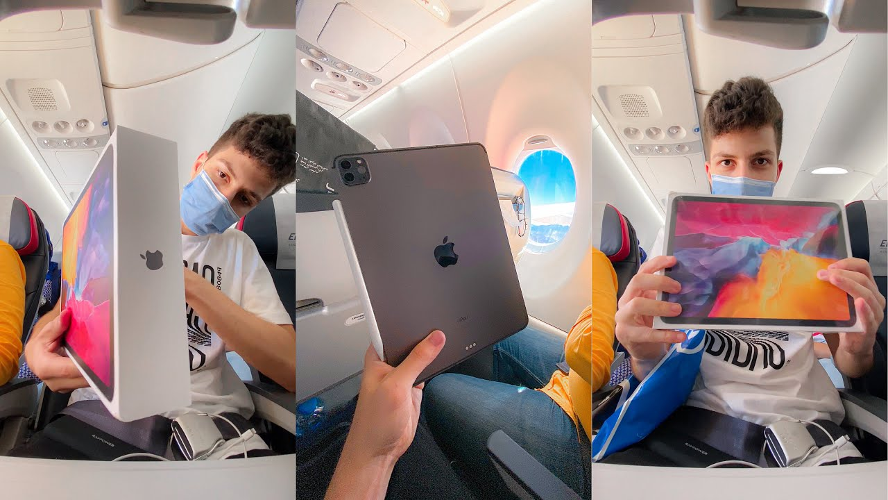 فتح علبه من الطياره - iPad Pro 2020 Unboxing !