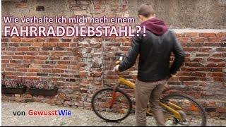 FAHRRADDIEBSTAHL?! ✯ Wie verhalte ich mich nach einem Fahrraddiebstahl ✯ von GewusstWie