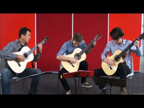 Tasmanian Guitar Trio plays 'Canario' by Johannes Hieronymus Kapsberger
