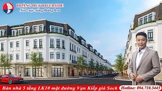 Giới thiệu dự án Hoàng Huy Riverside - Bán nhà liền kề mặt đường Vạn Kiếp