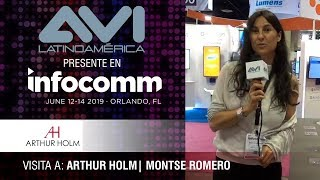 Visita a Arthur Holm durante  InfoComm Orlando 2019